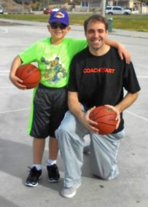 Greg with Angel, a CoachArt student