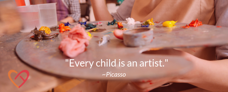 """10 Easy Crafts for Kids with Motor Disabilities: """"Every Child is an Artist"""" 