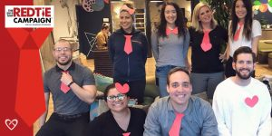 Bleeding Disorders Awareness Month: CoachArt Participates in the #RedTieChallenge
