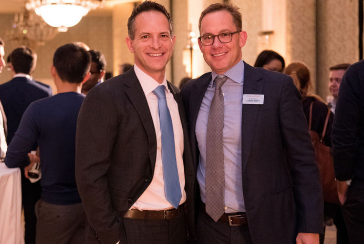CoachArt Co-Founder Zander Lurie and Chime CEO Chris Britt (Benefit Honoree) at the 2019 CoachArt Children's Benefit in San Francisco. Photo by Julia Zave Photography