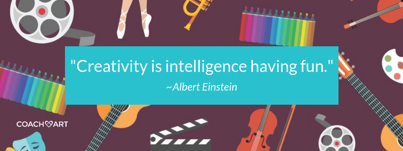 "Creativity Quote: ""Creativity is Intelligence Having Fun."" -Albert Einstein 