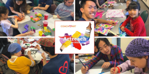 CoachArt and Artreach at UCLA: Helping Kids Explore Different Art Mediums in Art Club
