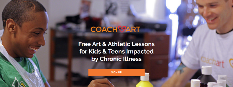 CoachArt In Home Lessons for Kids and Teens Impacted by Chronic Illness in California.