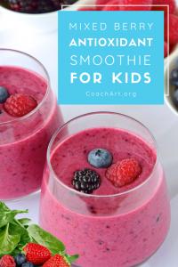Mixed Berry Anitoxidant Smoothie for Kids (Smoothie Recipe) | CoachArt