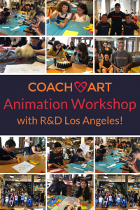 Los Angeles Artists Provide Animation Lessons for CoachArt Kids Impacted by Childhood Chronic Illness