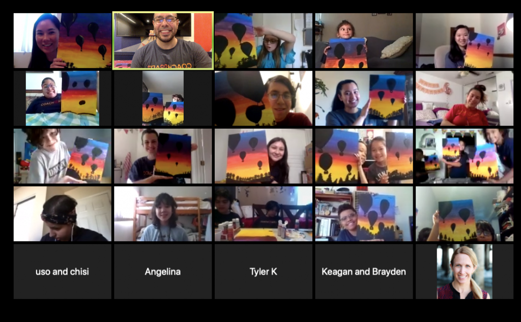 Painting Lesson at CoachArt's Virtual Summer Camp